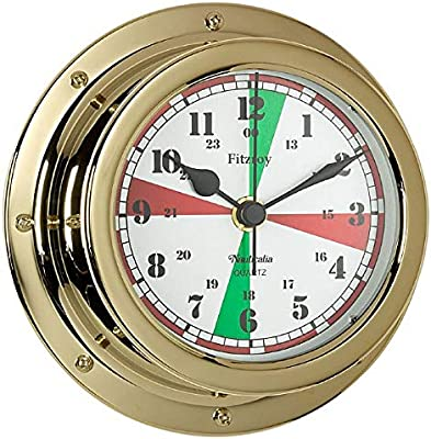 Fitzroy QuickFix Radio Silence Clock, Brass