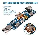 Innovateking-EU USB Tester Converter Board, 7 in 1 MultifunctionUSB Tester Meter Multimeter Ammeter