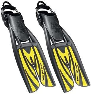 Scubapro Twin Jet Max Open Heel Split Fins, YL-SM