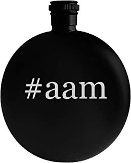 #aam - 5oz Hashtag Round Alcohol Drinking Flask, Black
