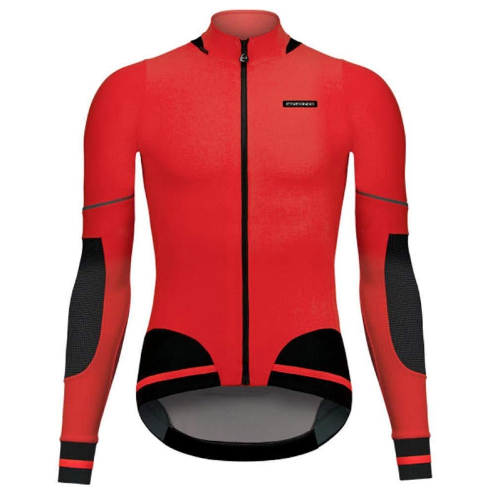 HNLJ Maillot España A Favor del Equipo De Ciclismo De Invierno Camiseta De Manga Larga Superior