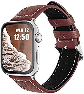 Fullmosa Compatible Watch Bands 38mm 40mm 42mm 44mm, Jan Series Lichi Texture Calf Leather Strap Replacement Band/Strap/Br...