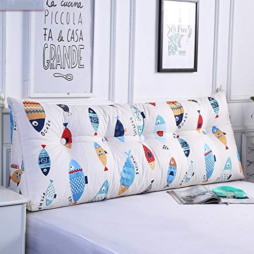 LLSDLS Desmontable y Lavable de Dibujos Animados de Noche Triángulo Almohada Apoyo a la Cintura cojín del sofá Largo Almohada Inicio Cama Doble Dormitorio Volver