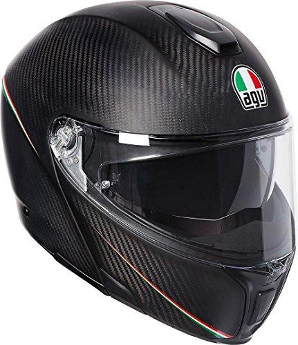 AGV Sports Modular Tricolore Opaco Carbonio Italia Motociclo Casco Taglia XL