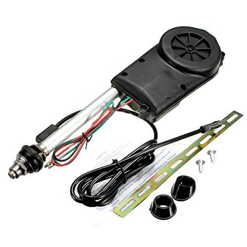 Auto Antenne - TOOGOO (R) Auto Elektrik Luft Radio Automatische Booster Leistung Antenne Set Schwarz