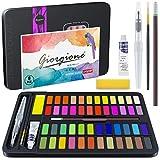 Baozun Aquarellfarbkasten, Aquarell-Farben Set Aquarellfarben Set bestehend aus 48 Wasserfarben, 1...