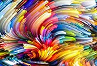 ZPC 7x5ftカラフルな背景ダイナミッククラウドカラークリエイティブアートデザイン写真の背景スワールブラシ絵画背景子供大人アートポートレート撮影小道具デジタル壁紙