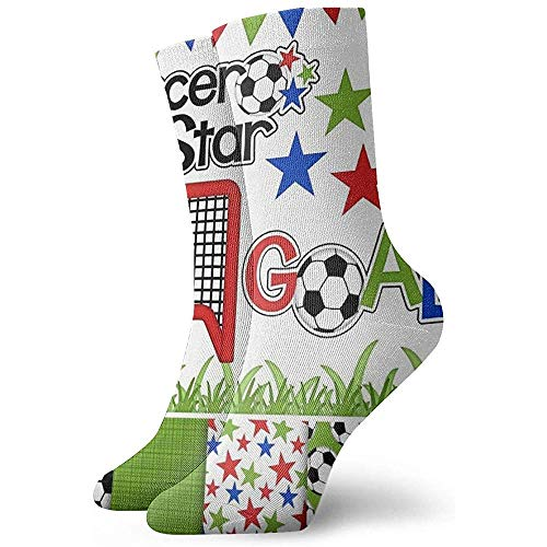 Fußball Fußball Digital Clipart Papier Söckchen Lässige gemütliche Crew Socken für Männer, Frauen, Kinder