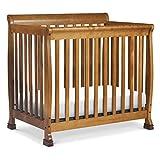 DaVinci Kalani 4-in-1 Convertible Mini Crib in Chestnut, Greenguard Gold Certified