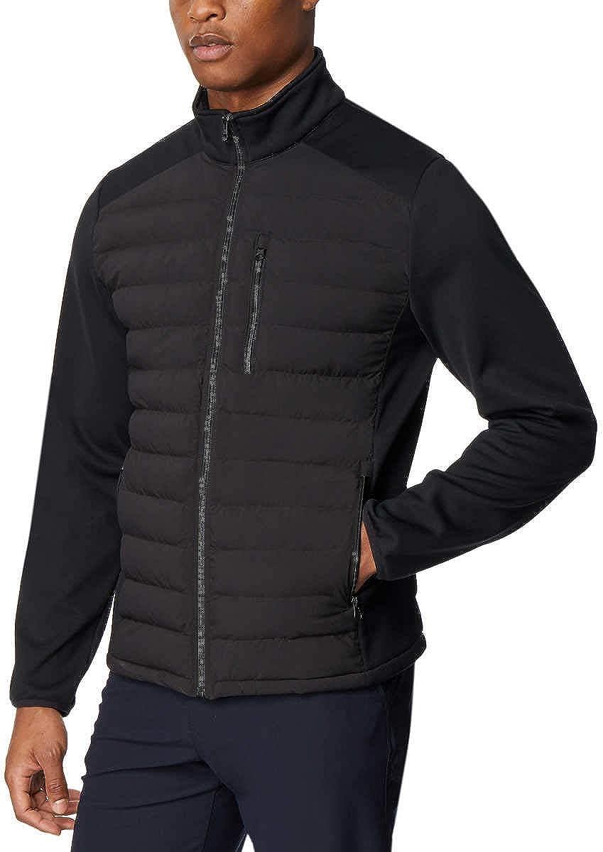 32 DEGREES Men's Mixed Media Jacket (Black, Large)