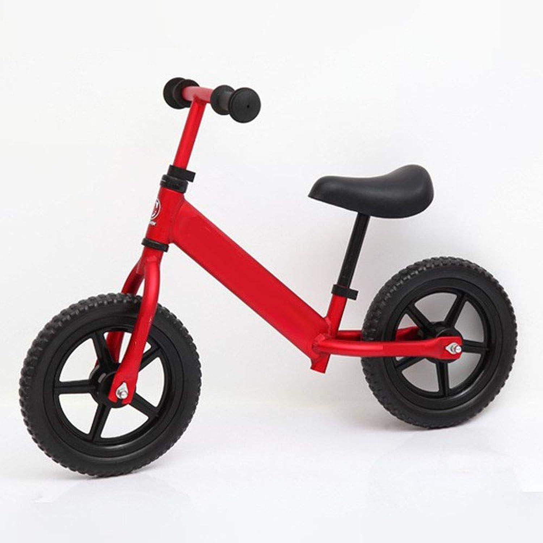 GAOJIN 12 Zoll Balance Fahrrad Rahmen aus Kohlenstoffstahl Kein Pedal Walking Balance Training Laufrad Einstellbare Lenkerbasis Bike Lernlaufrad für ab 2 bis 5 Jahre Kind