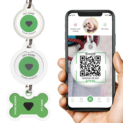 Dog Tags Personalized for Pets - Dog Tag with Qr Link to Online Profile - Dog Tags Engraved for Pets - Dog Name Tag and Cat Name Tag for Your Pet - Funny Dog Tags - Custom Dog Tags - Dog Accessories