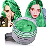 Temporary Hair Color Wax HailiCare 4.23 oz Wash Out Hair Dye Unisex Instant Hair Wax Natural Washable Hair Color for Men Women Kids Party Cosplay Date St Patricks (Green)