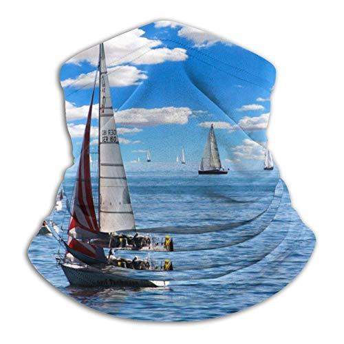 ULNIKU-T Velero Ocean Unisex reutilizable ajustable al aire libre para hombres y mujeres bufanda facial bandana multifuncional sol UV y polvo casual polaina cuello calentador impreso pasamontañas