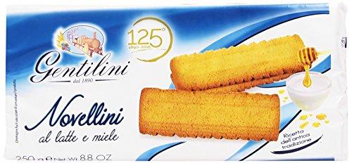 Gentilini - Novellini, Biscotti Al Latte E Miele - 250 G