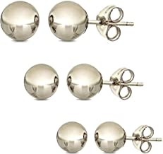 Best earring studs white gold Reviews