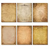 Stationery Paper, Old Fashion Aged Classic Vintage Assorted Design, Double Sided, Perfect for Letter Writing, Printing, Copying, Crafting, Tickets, Certificate, Invitations (8.5 x 11 Inches) 72 Sheets