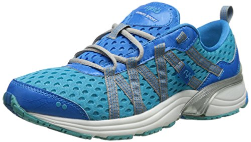 RYKA Womens Hydro Sport Water Shoe Cross Trainer, Detox Twinkle Blue/Chrome Silver, 6 M US