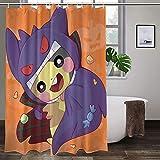 Pokémon-Duschvorhang verschleißfest, hochtemperaturwiderstandsfähig, bunte Duschvorhänge, ungiftig, geruchlos.