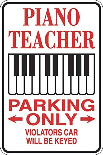 PotteLove Piano Leraar Parkeerplaats Alleen Teken Sticker Vinyl Sticker Decoratief voor Laptop Koelkast Gitaar Auto Motorhelm Bagage Cases Decor 6 Inch in Breedte
