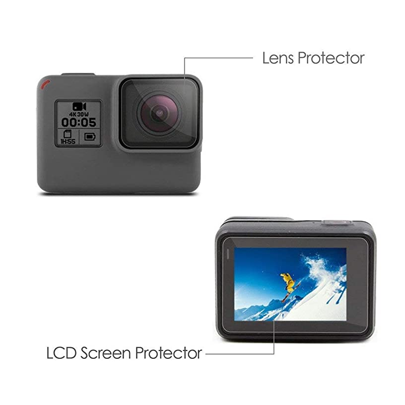 ?? Orcbee ?? _LCD Screen Protector + Lens Protrector Film for GoPro Hero 5 Tempered Glass Film Accessory