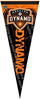 Professional Soccer Teams and Football Clubs Flag Banner Pennants, 12 x 30 in, Soft and Durable (Houston Dynamo)