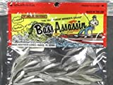 Bass Assassin Tiny Shad 1.5' Pin tail plastic lure ideal for drop shot and micro jigs Black Shad
