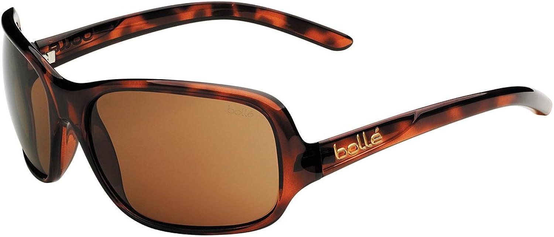 Bollé Women's Kassia Sunglasses, Shiny Tortoise, Polarized A14 Lens
