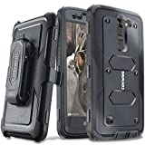 COVRWARE LG K7 / Tribute 5 / Escape 3 / Treasure/Phoenix 2 [Aegis Series] Heavy Duty Dual-Layer Full-Body w/Built-in [Screen Protector] Rugged Holster Armor Case & [Belt Clip][Kickstand], Black
