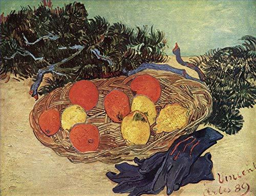 20 berühmte Gemälde auf Leinwand von akademischen Malern - 40€-1500€ Handgefertigte Ölgemälde - Stillleben with Oranges und Lemons with Blue Gloves Vincent van Gogh - Kunst Bilder -Maße07