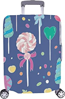 Sweet Hand Drawn Lollipops Seamless Vector Pattern Spandex Trolley Case Travel Luggage Protector Suitcase Cover 28.5 X 20....