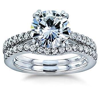 Kobelli Moissanite and Lab Grown Diamond Bridal Rings Set 2 1/3 CTW 14k White Gold  GH/VS DEF/VS  4.5