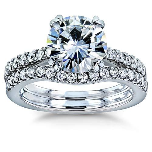 Kobelli Moissanite and Lab Grown Diamond Bridal Rings Set 2 1/3 CTW 14k White Gold (GH/VS, DEF/VS), 7