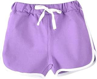 Les enfants de gymnastique Gym Lycra Coton Danse Filles stretch short pantalon chaud fluo