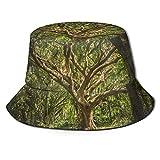 huatongxin Rain Forest Trees Print Bucket Hat Pescador Pesca Gorra para el Sol para Mujeres Viajes