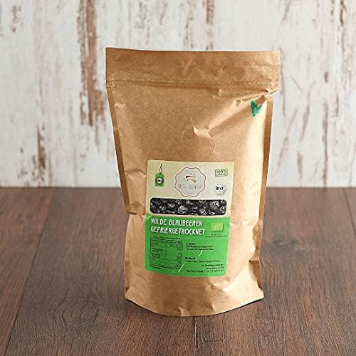 süssundclever.de® Bio wilde Blaubeeren | gefriergetrocknet | 300 g | ganze Beeren | plastikfrei und ökologisch-nachhaltig abgepackt