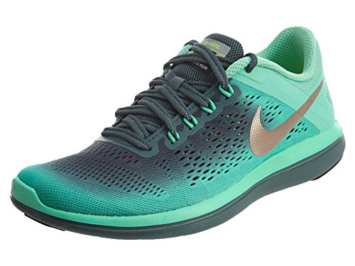 Nike 852447-300, Zapatillas de Trail Running para Mujer, Verde (Green Glow / Mtlc Red Bronze / Hasta / Black), 35.5 EU