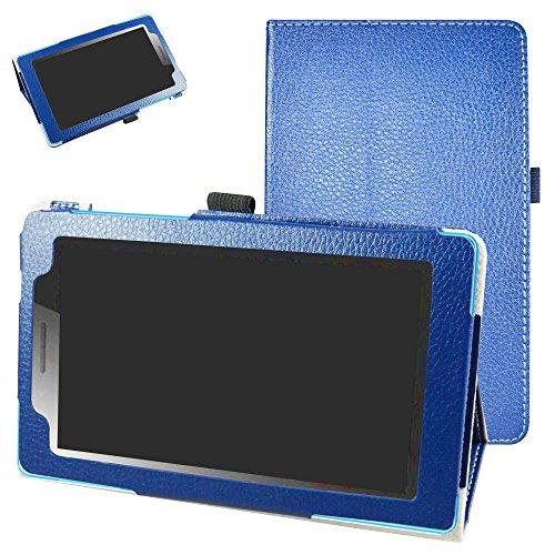Mama Mouth Lenovo Tab3 A7-10 / Tab 3 7 Essential Funda, Slim PU Cuero con Soporte Funda Caso Case para 7' Lenovo Tab3 7 Essential 710F 710I Android Tablet 2016,Azul Oscuro