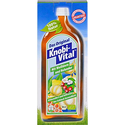 Knobi-Vital Lösung Mit Weißdorn und Holunder, 960 ml Lösung