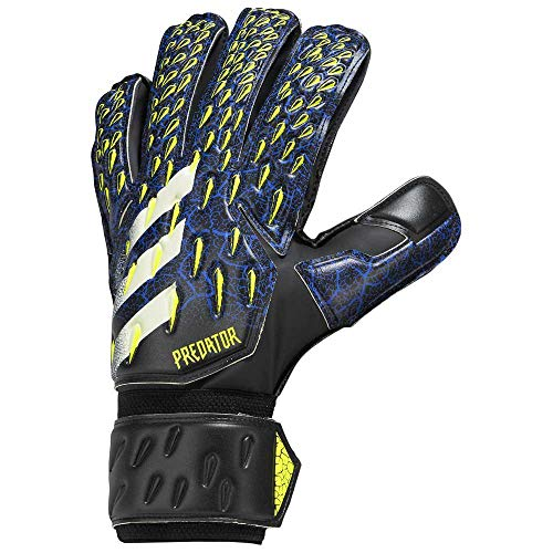 adidas Predator 20 Match, Guanti da Portiere Uomo, Nero/Team Royal Blue/Giallo Solare/Bianco, 7