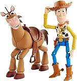 Disney Pixar Toy Story 4, Coffret Aventure Figurines Articulées Woody & Pile-Poil, Tailles Fidèles au Film pour Rejouer les Scènes du Film, Jouet pour Enfant, GDB91