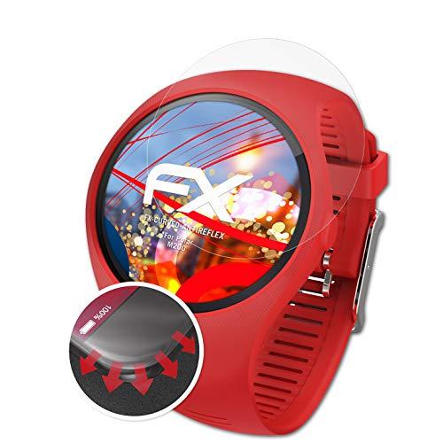 atFoliX Schutzfolie kompatibel mit Polar M200 Folie, entspiegelnde & Flexible FX Bildschirmschutzfolie (3X)