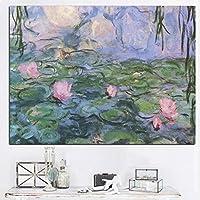 ゴッホのロータスの壁画印象派の完全なTangHeの葉のキャンバスアートリビングルームの装飾写真22x32cmフレームレス