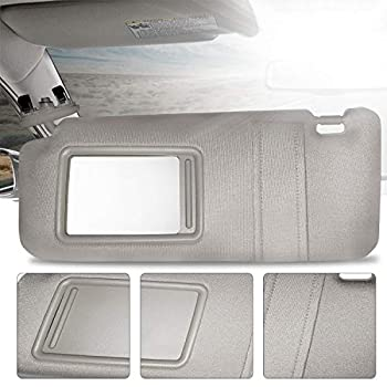 Make Auto Parts Manufacturing Left Driver Side Gray Windshield Sun Visor for Toyota Camry without Sunroof and Light 2007 2008 2009 2010 2011
