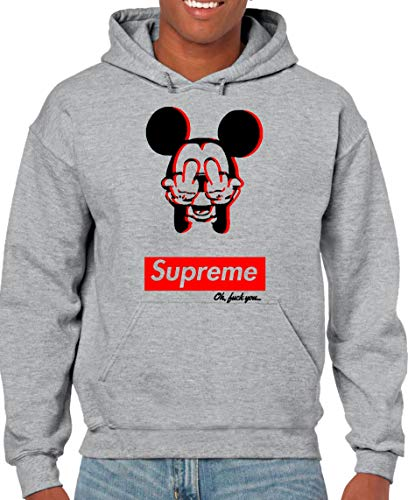 The Fan Tee Sudadera Hombre Divertidas Mickey Supreme
