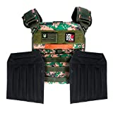 Unbrokenshop.com Weight Vest - with Sand Plates (Combo) - Chaleco Colette Ergonomic for Exercises (Strong & Durable) - Designed for Weight Lifting, Running & Fitness (Camo) - 2 Patches included