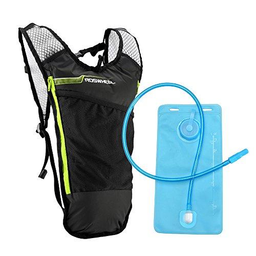 Lixada Mochila Hidratación 5L Mochila + 2L Bolsa de Agua Súper Ligero para Bicicleta Ciclismo Senderismo Excursionismo
