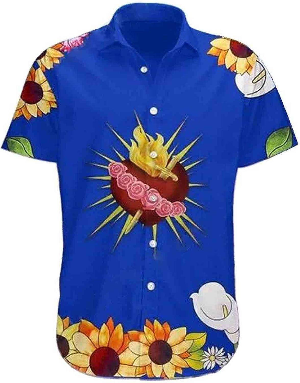 PAPWELL Romeo & Juliet Hawaii Shirt for Men Short Sleeve Button Down, Funky Hawaiian Shirt, Boys Hawaiian Shirt, Funny Hawaiian Shirt