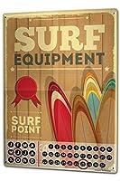 カレンダー Perpetual Calendar Sports Surfer equipment Tin Metal Magnetic