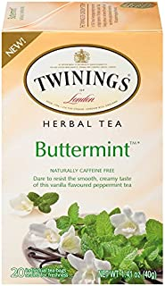 Twinings of London Buttermint Herbal Tea Bags, 20 Count (6 Pack)